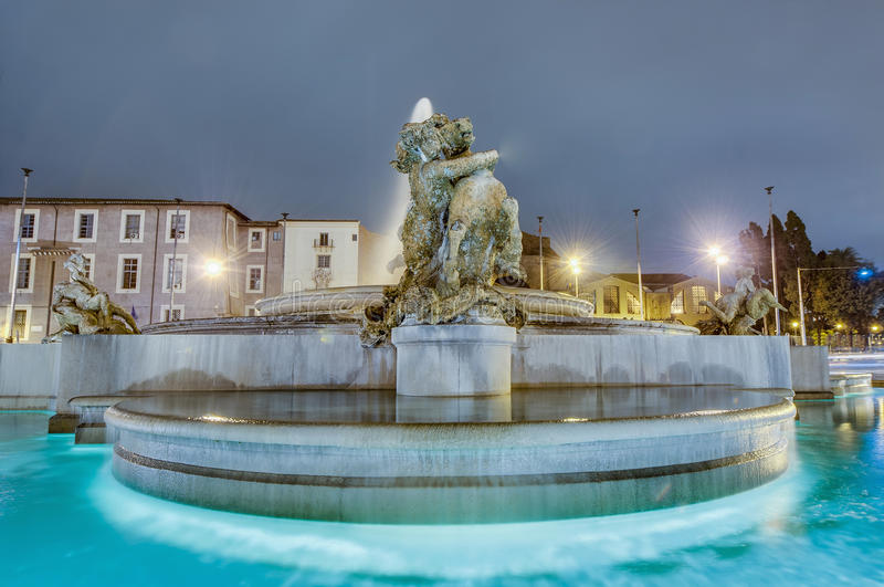 Piazza della Repubblica w Rzym, Włochy obrazy royalty free