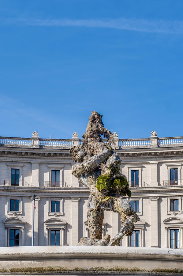 Piazza della Repubblica w Rzym, Włochy obraz royalty free