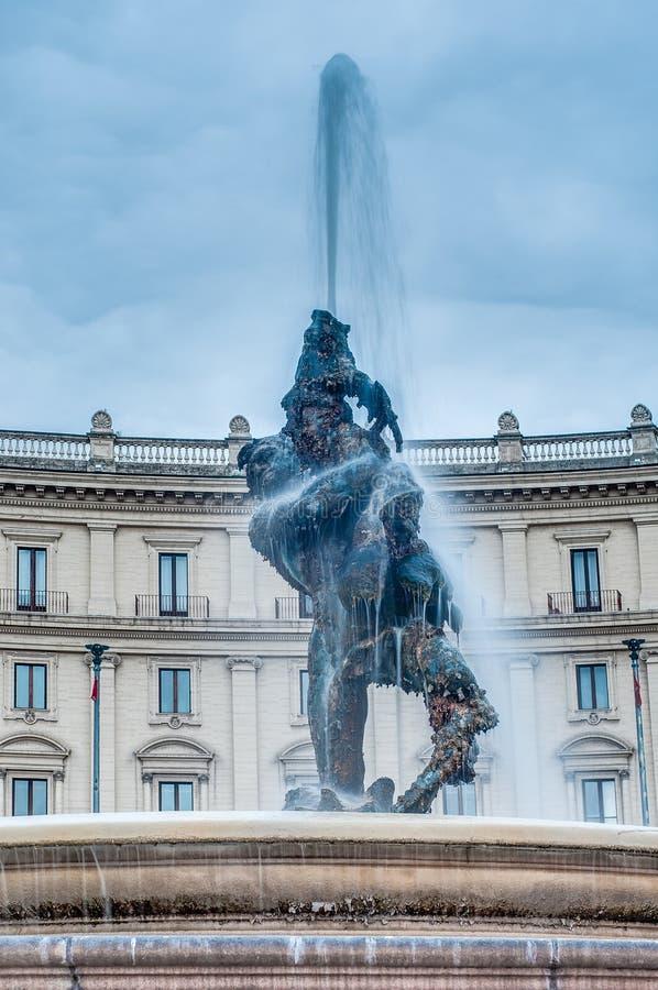 Piazza della Repubblica w Rzym, Włochy obrazy stock
