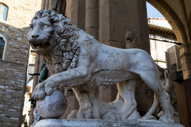 Piazza della Signoria zdjęcia royalty free
