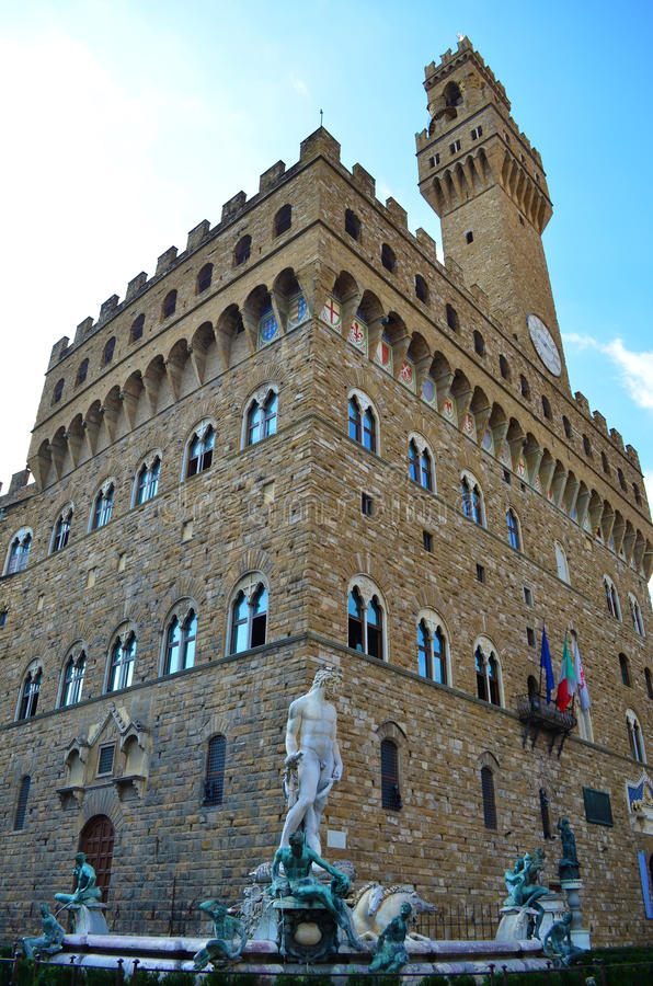 Piazza Della Signoria In Florence - Italy Royalty Free Stock Image
