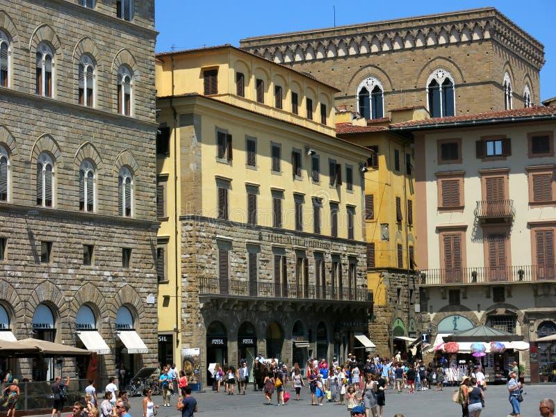 Piazza della Signoria, Florence royalty free stock photos