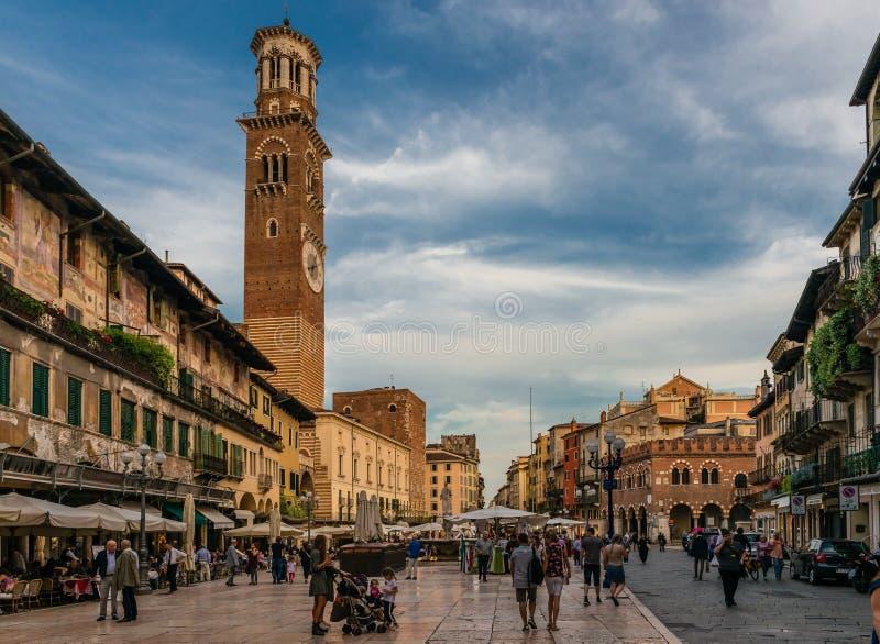 Piazza delle Erbe royalty-vrije stock afbeelding