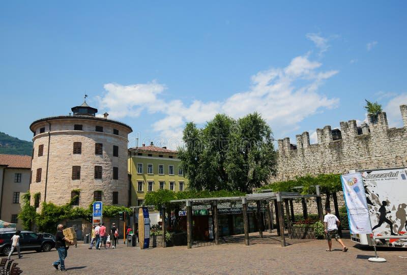 Piazza Di Fiera in Trento, Italy. Piazza Di Fiera in the center of Trento, Trentino, Italy stock image