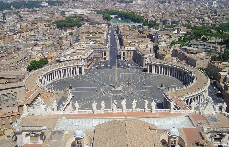 Piazza di San Pietro stockbilder