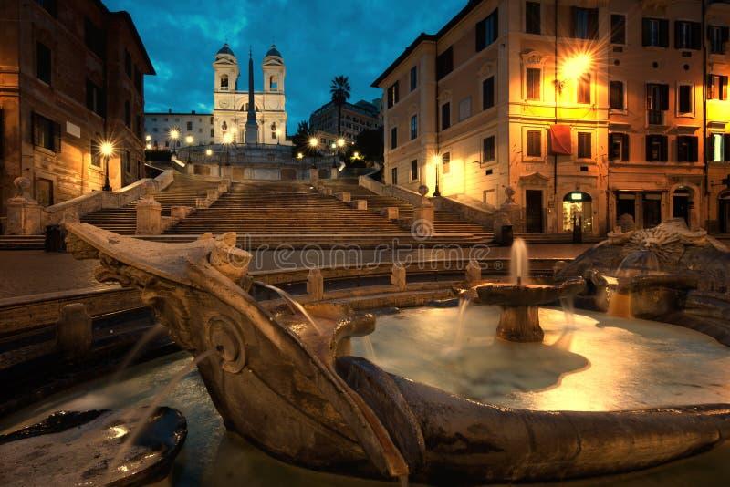 Piazza di Spagna ad alba, Italia immagini stock