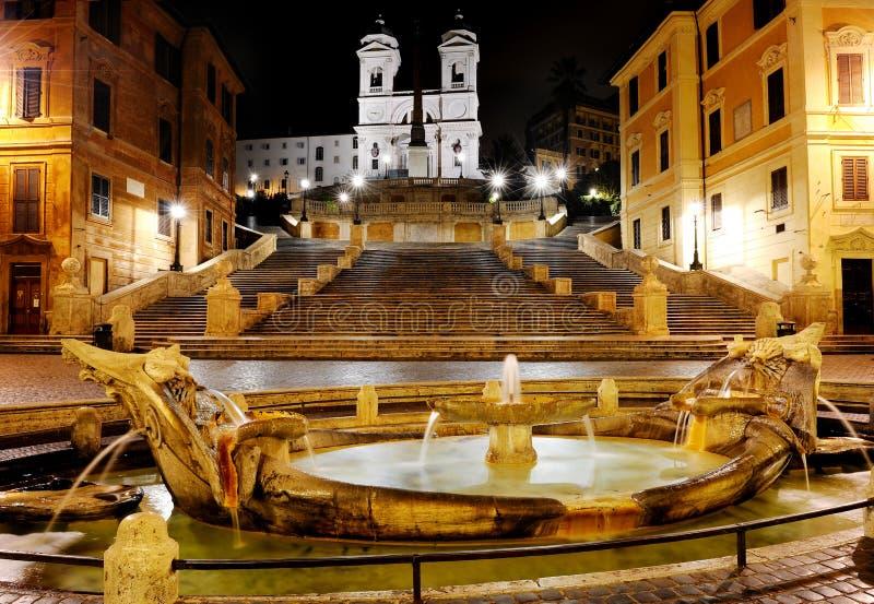 Piazza Di Spagna i Hiszpańscy kroki, Rzym, Włochy obraz royalty free