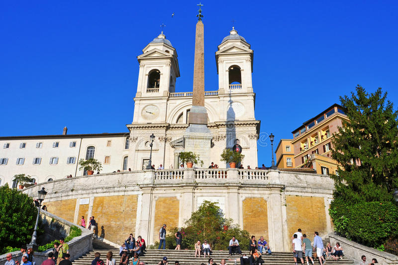 Piazza di Spagna in Rom, Italien lizenzfreie stockbilder