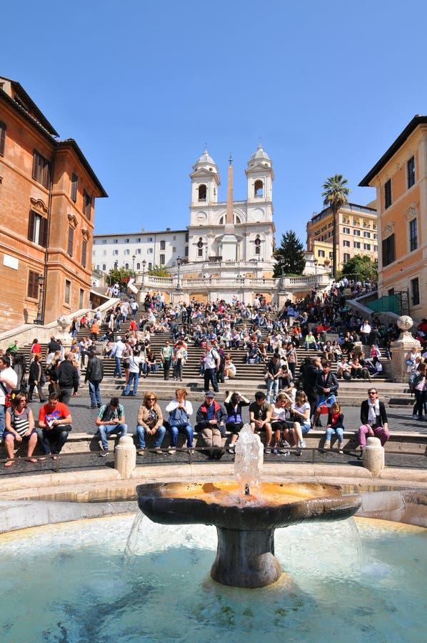 Piazza di Spagna, Roma foto de archivo