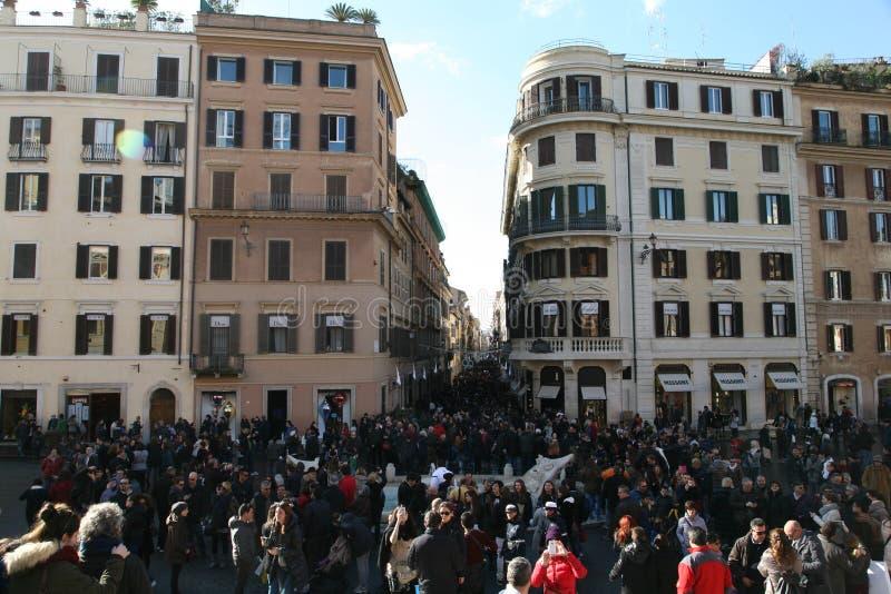 Piazza di spagna, roma royaltyfri fotografi