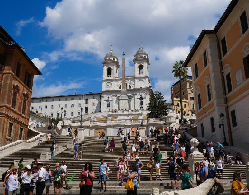 Piazza di Spagna - Roma, Italia - pasos españoles fotos de archivo