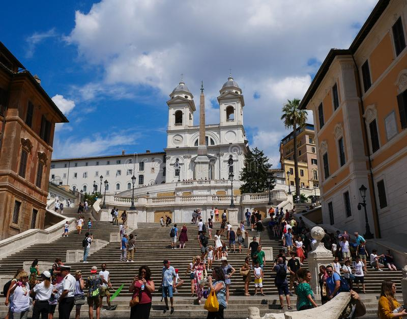 Piazza di Spagna - Rome, Italy - Spanish steps stock photos