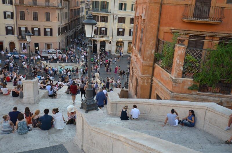 Piazza di Spagna, turism, stad, rekreation, stadfyrkant arkivbild