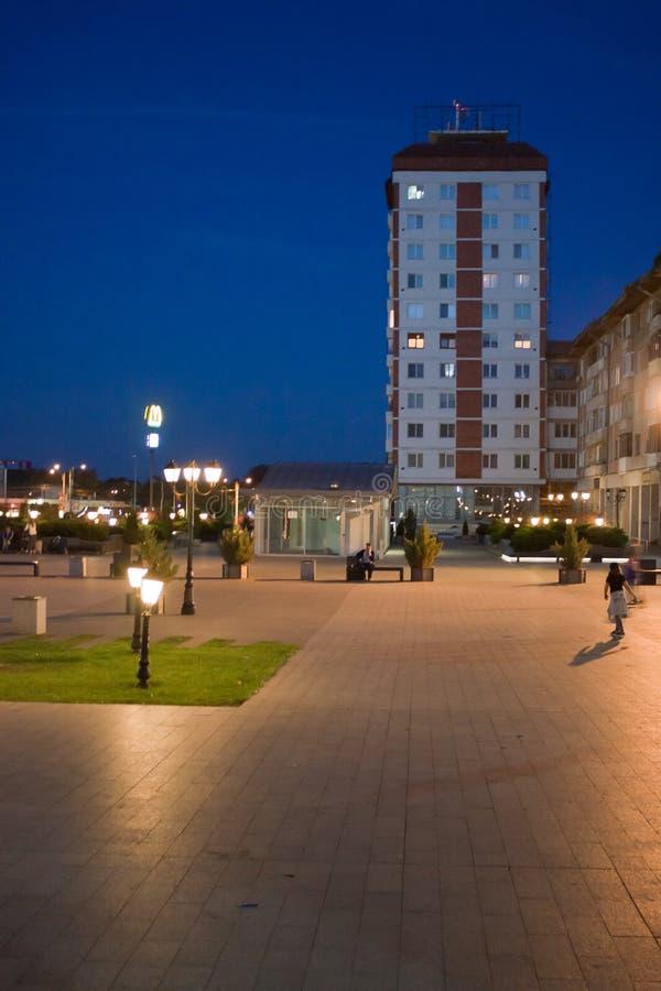 Piazza di Suceava immagine stock
