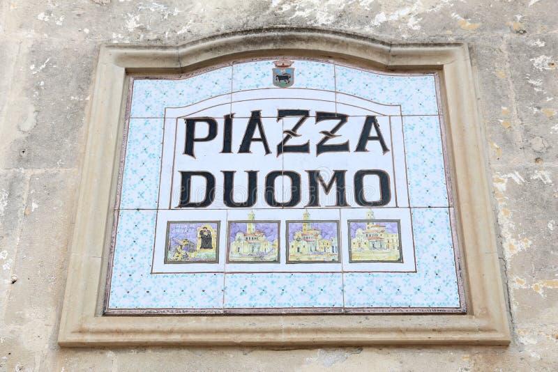 Piazza Duomo, Matera imagem de stock