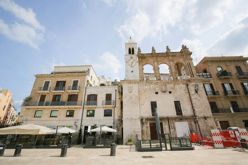 Piazza Ferrarese in the center of Bari, Italy royalty free stock image
