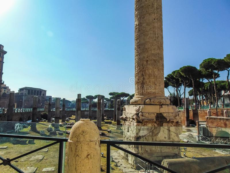 Piazza Foro Traiano, Rome photographie stock libre de droits