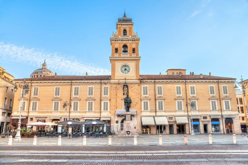 Piazza Garibaldi Parma i Parma, Italien royaltyfria foton