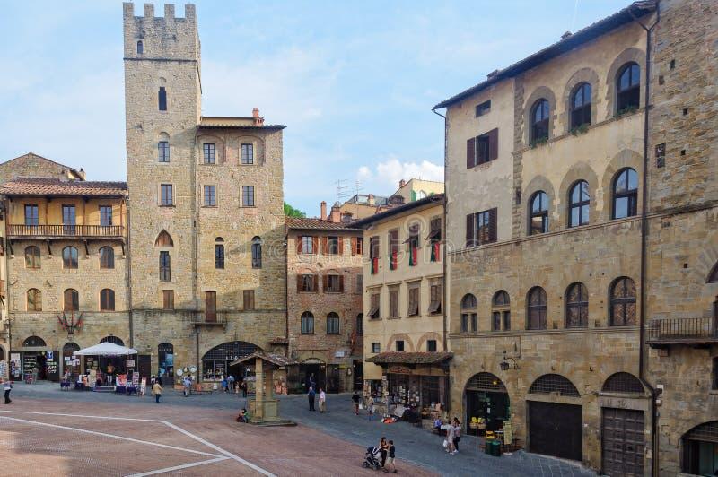 Piazza Grande Arezzo fotografie stock