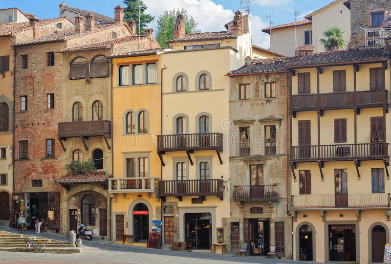 Piazza Grande Arezzo fotos de stock