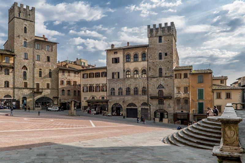 Piazza Grande, Arezzo, Toskana, Italien lizenzfreie stockbilder