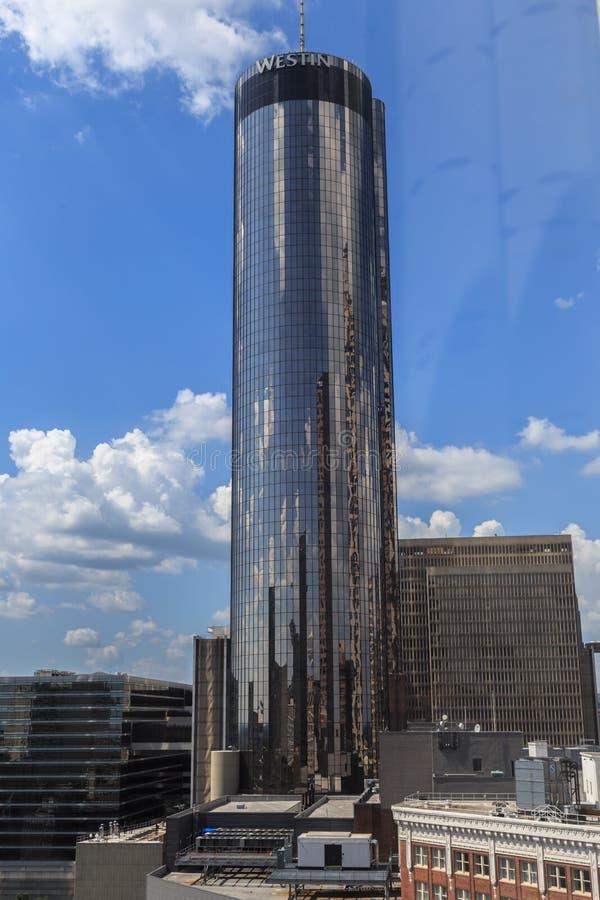 Piazza-Hotel Atlanta Westin Peachtree im Stadtzentrum gelegen lizenzfreies stockfoto