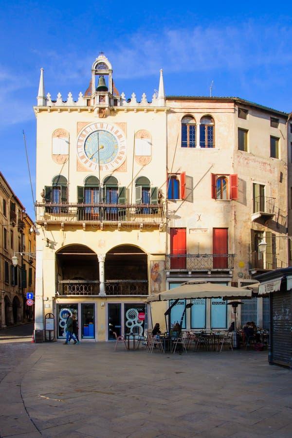 Piazza Liberta, Bassano del Grappa royalty-vrije stock fotografie