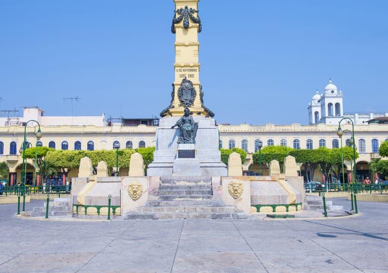 Piazza Libertad in San Salvador stockfotografie