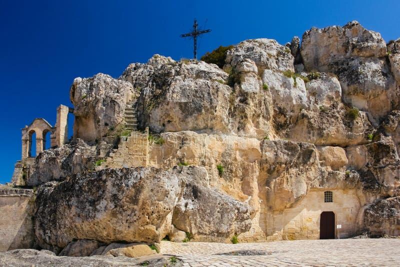 Piazza Madonna de Idris Matera La Basilicata Puglia o la Puglia L'Italia immagine stock libera da diritti