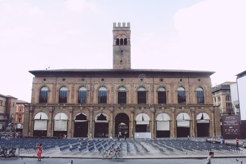 Piazza Maggiore, Bologna fotografia royalty free