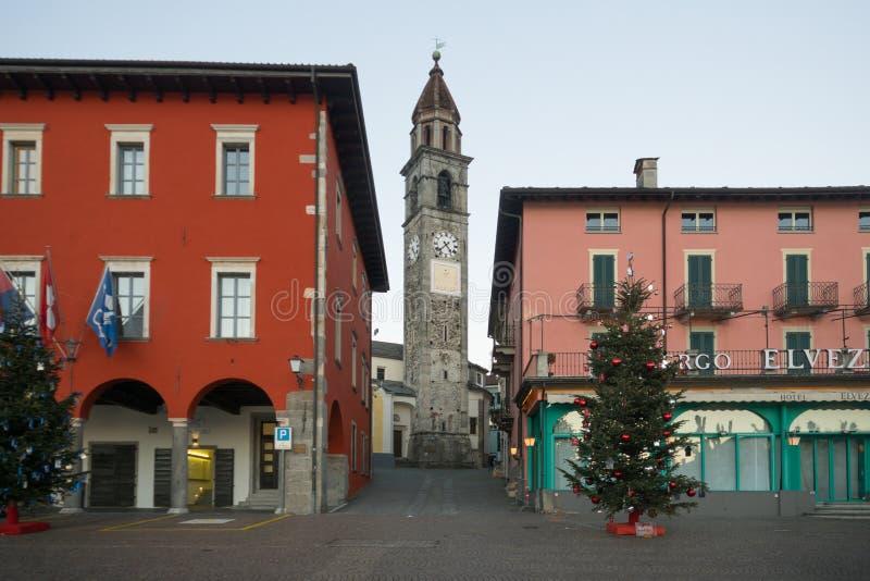 Piazza Mota, Ascona van de meerpromenade royalty-vrije stock fotografie