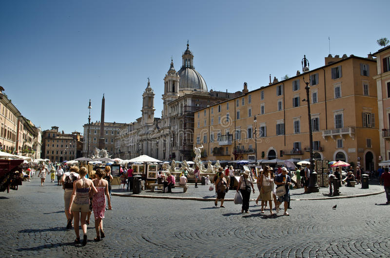 Download Piazza Navona editorial stock image. Image of antique - 25361424