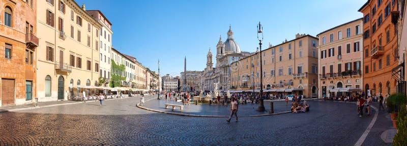 Piazza Navona in centraal Rome stock afbeelding