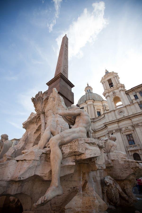 Piazza Navona di Roma fotografia stock libera da diritti