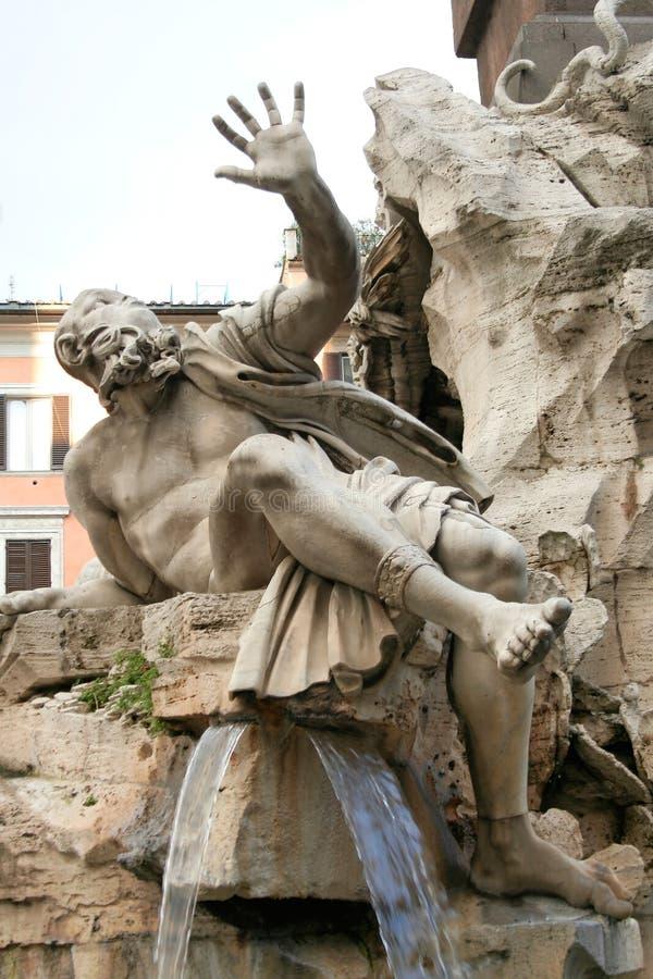 Piazza Navona Fountain, Rome royalty free stock photo