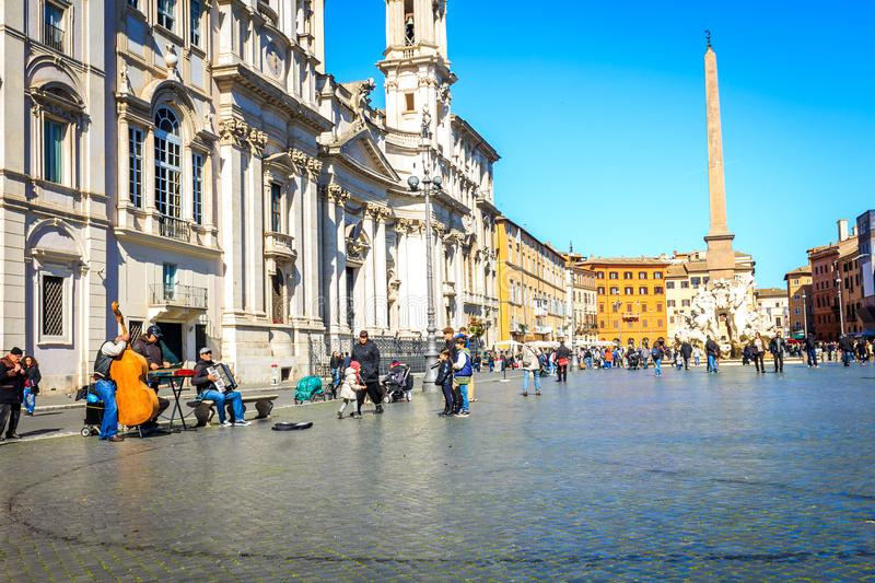 Piazza Navona in Italy Rome. During day royalty free stock images