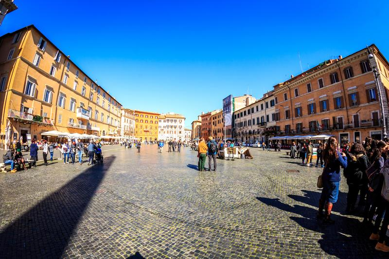 Piazza Navona in Italy Rome. During day royalty free stock photo