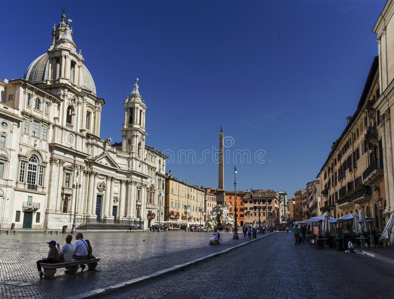 Piazza Navona stock photography