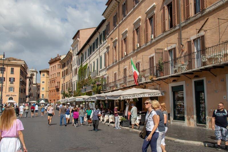 The Piazza Navona royalty free stock photos