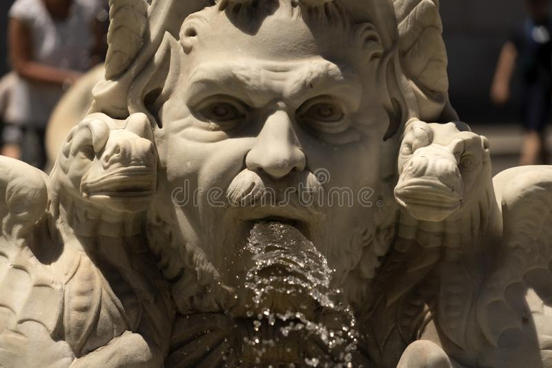 Piazza navona roma fountain detail. Close up royalty free stock photography