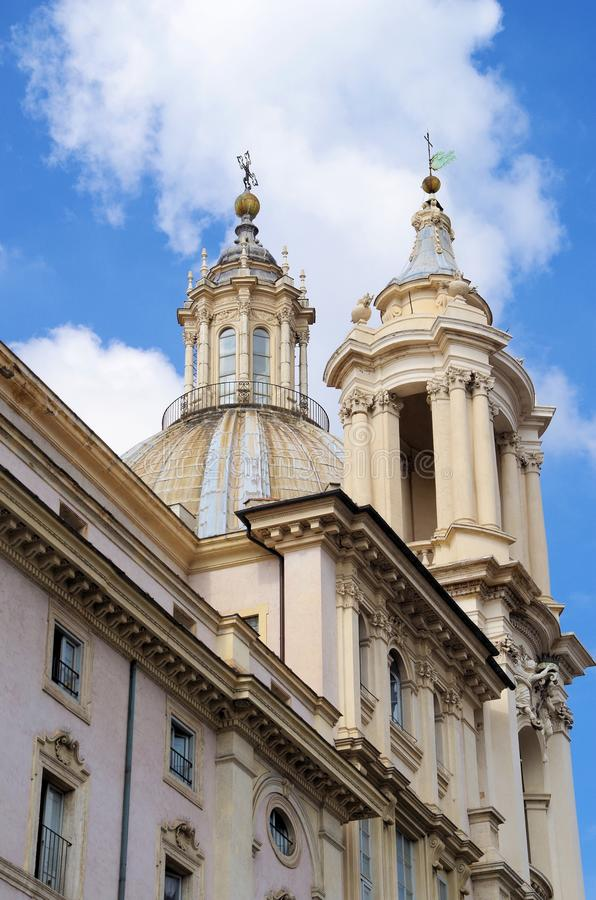 Download Sant Agnese Church In Piazza Navona Rome Stock Image - Image of baroque, city: 27332309