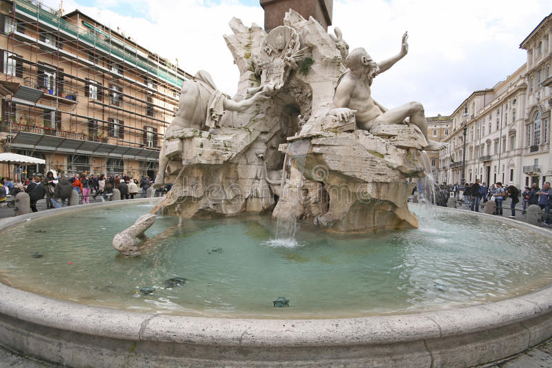 Piazza Navona in Rome royalty free stock photos