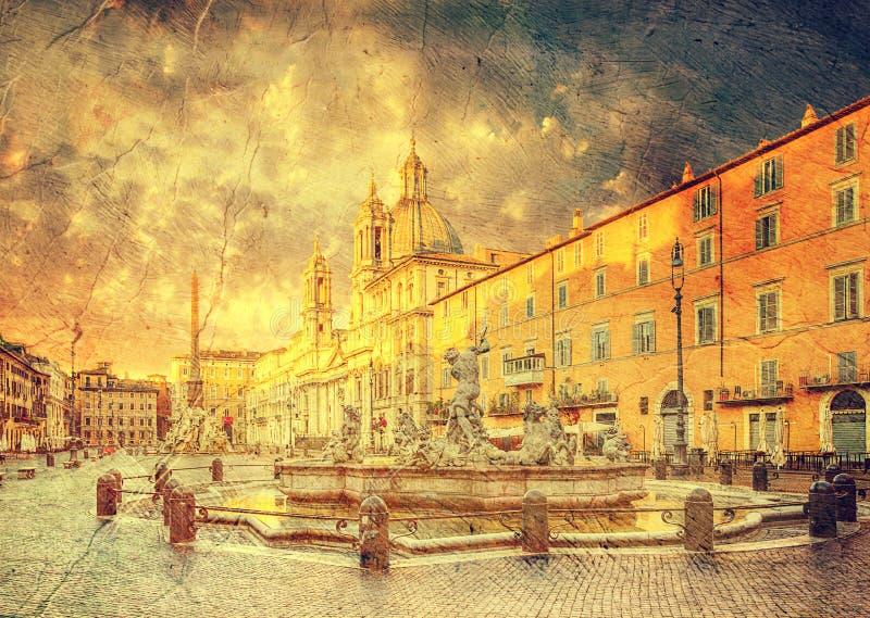 Piazza Navona, Rome. Italië royalty-vrije stock foto