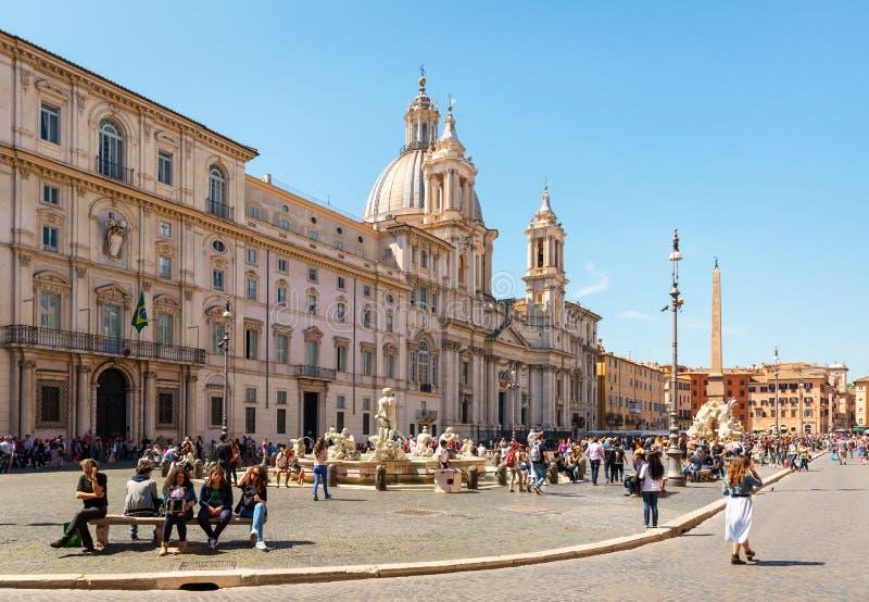 Piazza Navona in Rome, Italië royalty-vrije stock foto