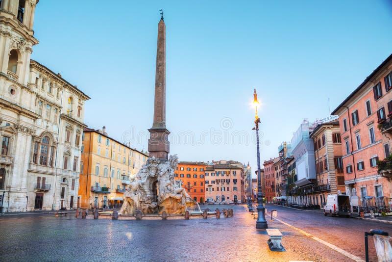 Piazza Navona in Rome, Italië stock foto