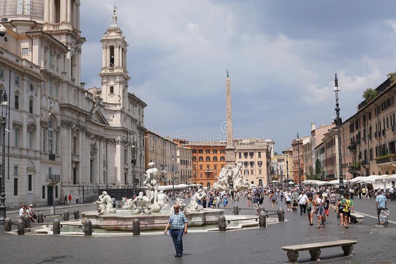 Piazza Navona stock fotografie