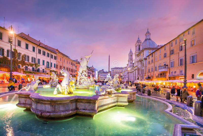 Piazza Navona in Rome, Italy royalty free stock images