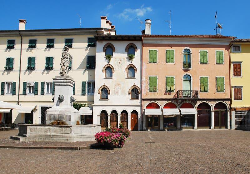 Piazza Paolo Diacono, Cividale royalty-vrije stock afbeeldingen
