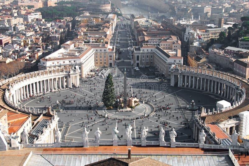 piazza pietro rome san fotografering för bildbyråer
