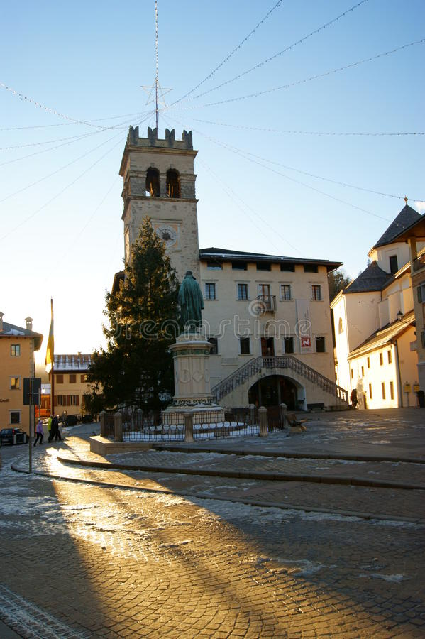 Piazza Pieve di Cadore photographie stock libre de droits